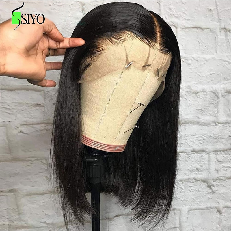 Siyo Straight Lace Front Wig Brazilian Short Bob Human Hair Wigs for Black Women 100% Remy Hair Wigs 13x4 Straight Bob Wig