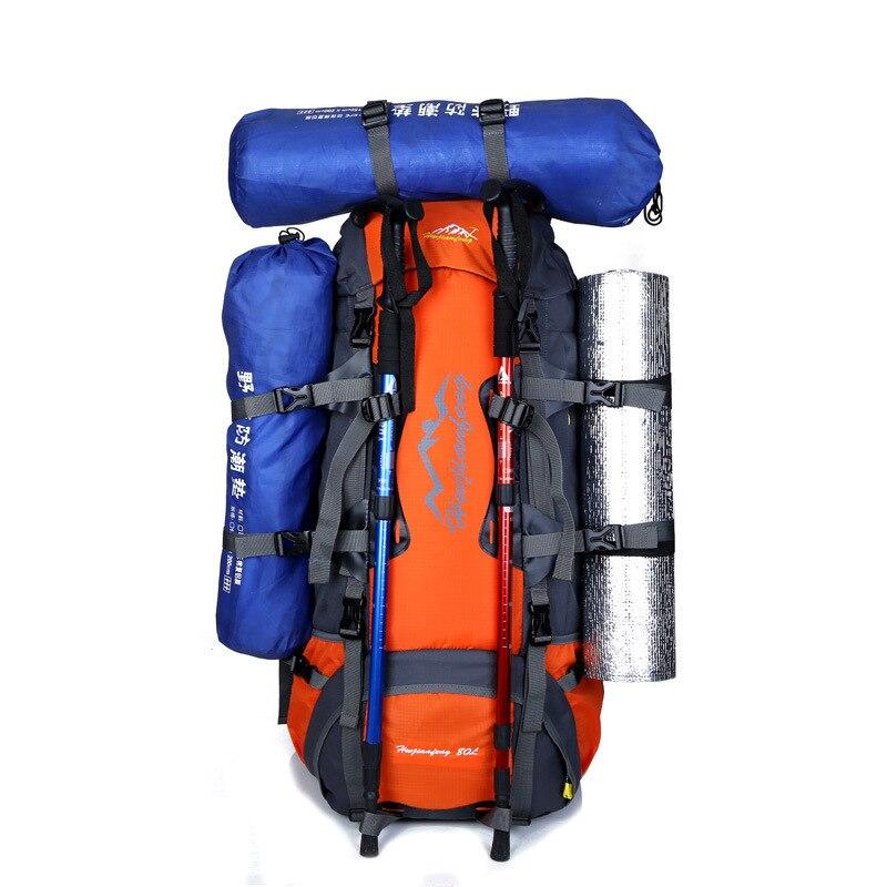 Рюкзак для альпинизма 80 л для мужчин и женщин, уличная дорожная Сумка для кемпинга, водонепроницаемые походные рюкзаки для альпинизма