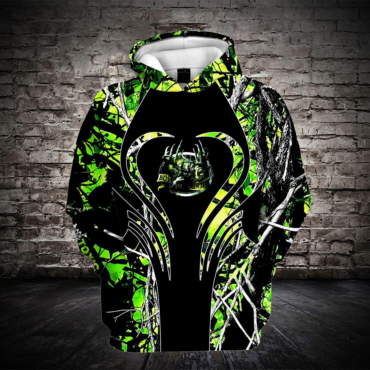 2020 Fashion Outdoors Bow Hunting Hoodies Jungle Deer 3D Printed Hoodie Green Casual Tops Men/Women Clothing Drop Shipping