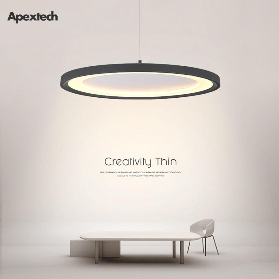 Lámpara colgante ultradelgada de LED, moderna lámpara colgante de platillo volador creativo nórdico, lámparas de techo para colgar en la mesa del comedor
