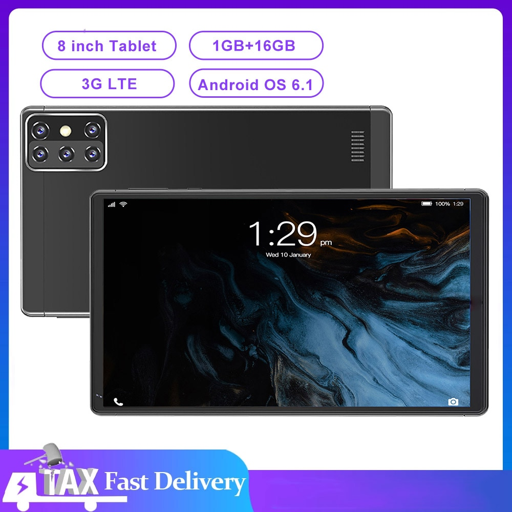 8 inch Tablet Android 6.1 3G LTE MT6592 Quad Core 1280x800 IPS 1GB RAM 16GB ROM Tablet PC Support Wifi GPS Dual SIM Dual Cameras