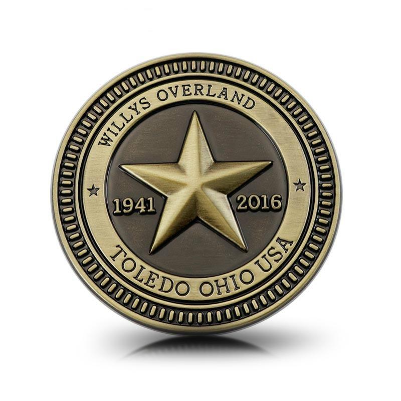 1941-2016 75 aniversario estrella Villys Overland TRAIL RATED Vintage placa estilo de...