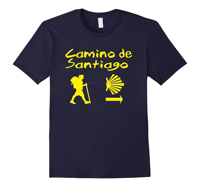 Nieuwe Mannen Shirt Camino De Santiago Compostela Tshirt Pelgrims