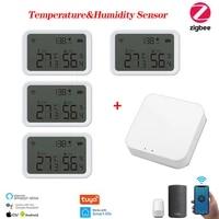 Tuya de Maison Intelligente Zigbee Capteur De Temperature Et Dhumidite Avec ECRAN LED Fonctionne Avec Assistant A Domicile Alexa Et Vie Intelligente