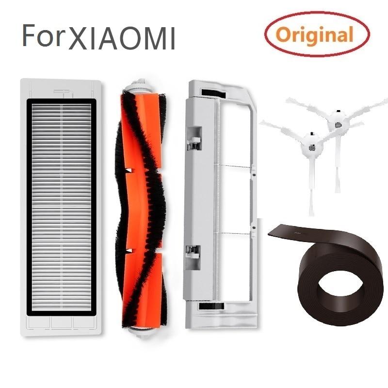 Original Xiaomi Robot Vacuum HEPA Filter Main Brush Side Brush Wall Cleaner Tools for Xiaomi MIJIA r