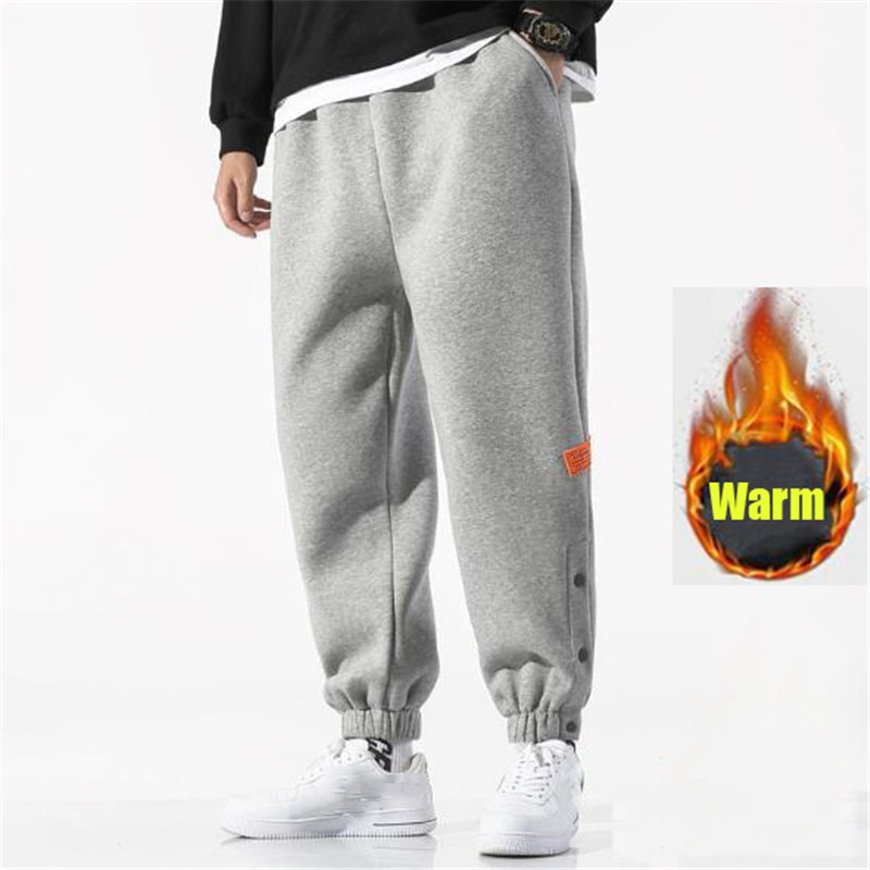 Зимние спортивные брюки, мужские повседневные теплые брюки, уличные бархатные свободные брюки, удобные спортивные брюки для бега, спортивн...