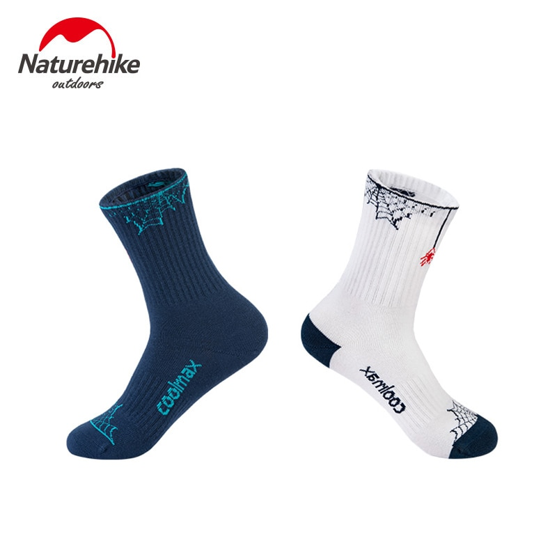 2-par Naturehike profesional calcetines de deporte para exteriores de secado rápido calcetín Coolmax hombre mujer-Calcetines de temporada senderismo ciclismo Running