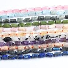 LanLi natürliche schmuck 8x11mm multicolor tangente flugzeug säule beadsDIY männer und frauen Armband Halskette fußkettchen Zubehör