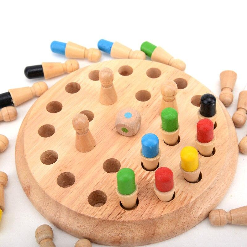 Children's Wooden Intelligence Desktop Games Color Memory Chess Memory Development Parent-child Games