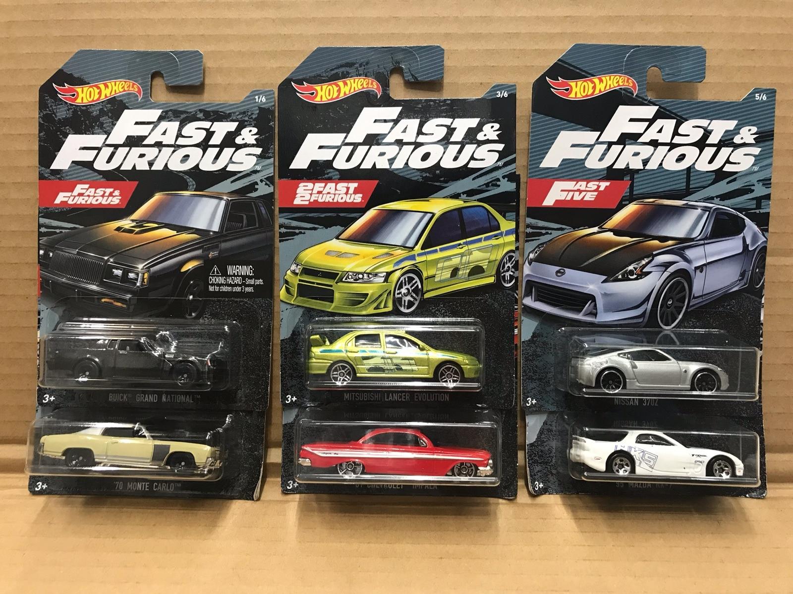 Hotwheels-سيارات Fast Furious الصغيرة ، 1/64 ، mitsubishi rx7 370z ، إصدار الجامعين ، لعبة أطفال معدنية ، هدية الكريسماس