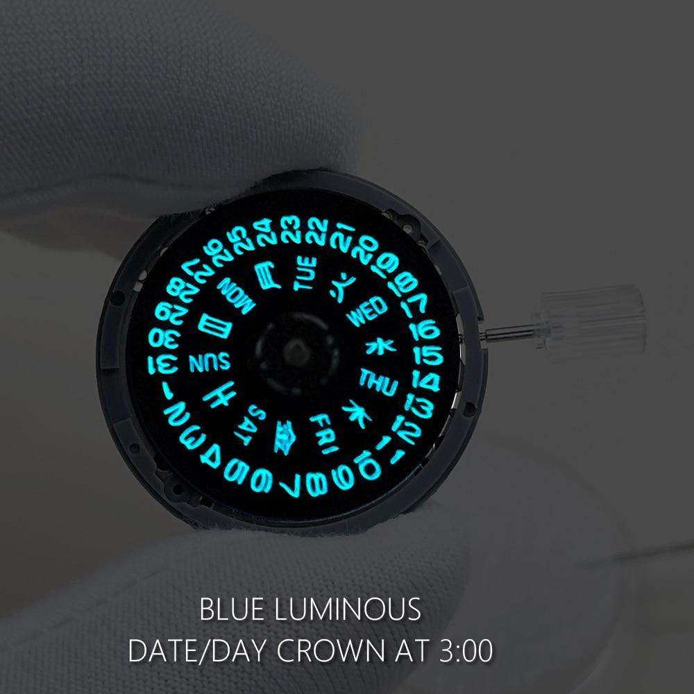 Mechanical Watch Movement Black Day-Date Wheel Luminous Japan NH36/NH36A  Blue/Green 24 Jewels Clock Mechanism Watch Accessories enlarge