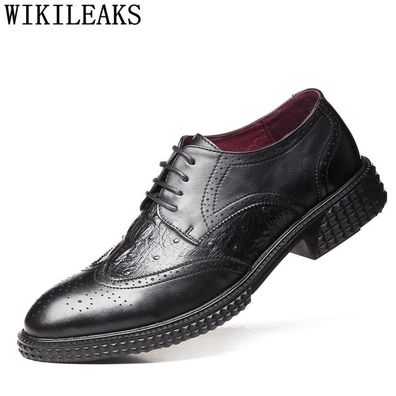 Zapatos De cocodrilo Brogues Oxford para Hombre, Zapatos corporativos para Hombre, Zapatos...