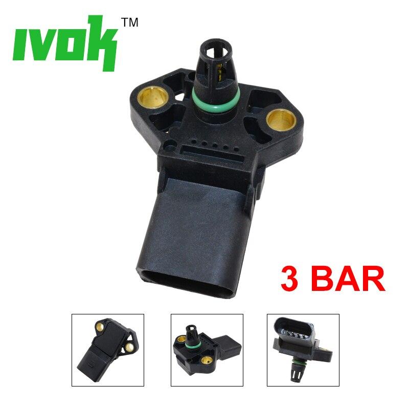 100% prueba 3 Bar colector sensor de presión MAP para AUDI A2 A3 A4 A5 A6 A8 Q5 Q7 TT S5 S6 S8 1.4l 1,9, 2,0, 3,0, 2,7 Tdi 038906051C