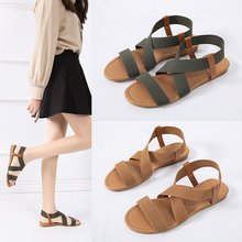 Summer Women's Sandals Flats Roman Shoes Soft and Comfortable Gladiator Sandals Fashion Ladies Casua