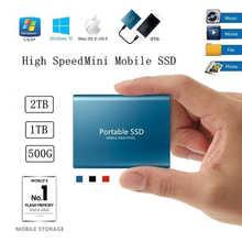 Оригинальный внешний SSD-накопитель, ТБ, 500 Гб, мобильный твердотельный жесткий диск USB 3,1, внешний SSD-накопитель Typc-C, портативный жесткий диск ...