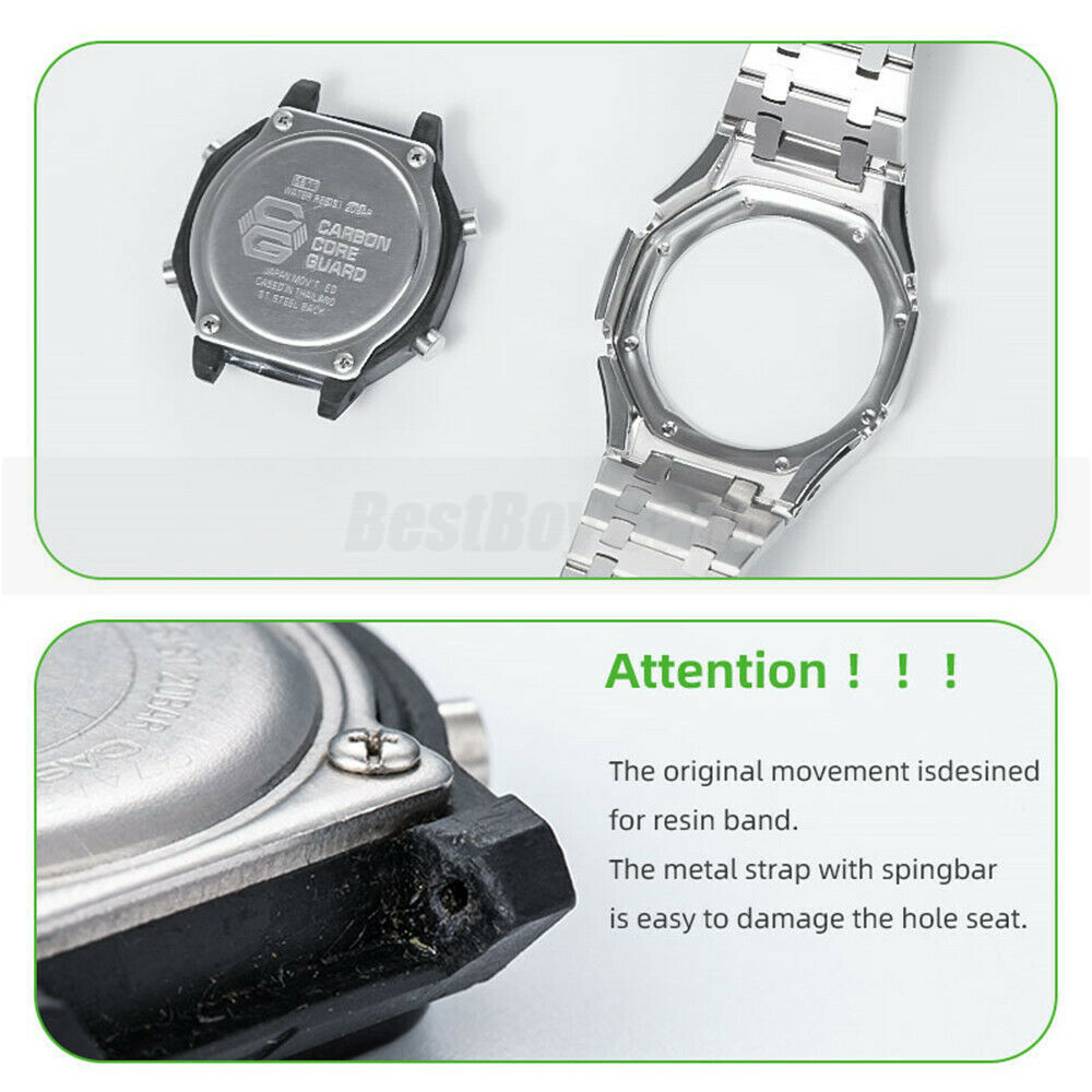 GA2100 3rd Watch Band Metal Bezel Stainless Steel Strap for GA-2100 smart watchs Replacement Bracelet Modification Accessories enlarge
