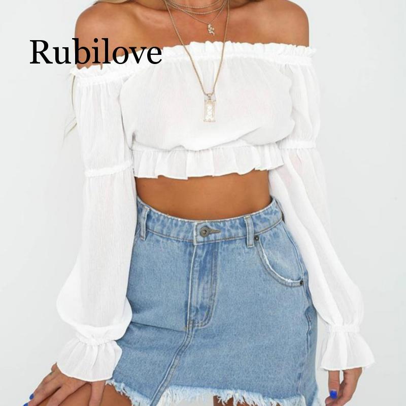Seksowna elegancka moda grzyb koszula szyfonowa bez ramiączek z długim rękawem otwórz Halo bez ramiączek 2 kolor T-shirt topy lato