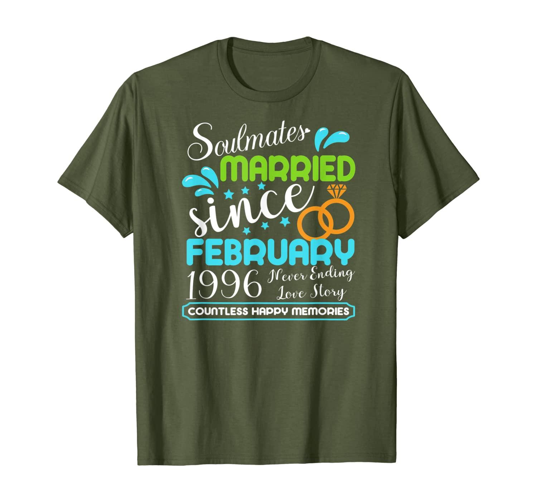 Женская с февраля 1996 года, футболка на 24 годовщины свадьбы