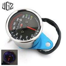 Tachymètre à moteur de moto   Compteur de vitesse, Instrument rétro en acier inoxydable, odomètre universel, tachymètre à moteur, manomètre de 12V, accessoire