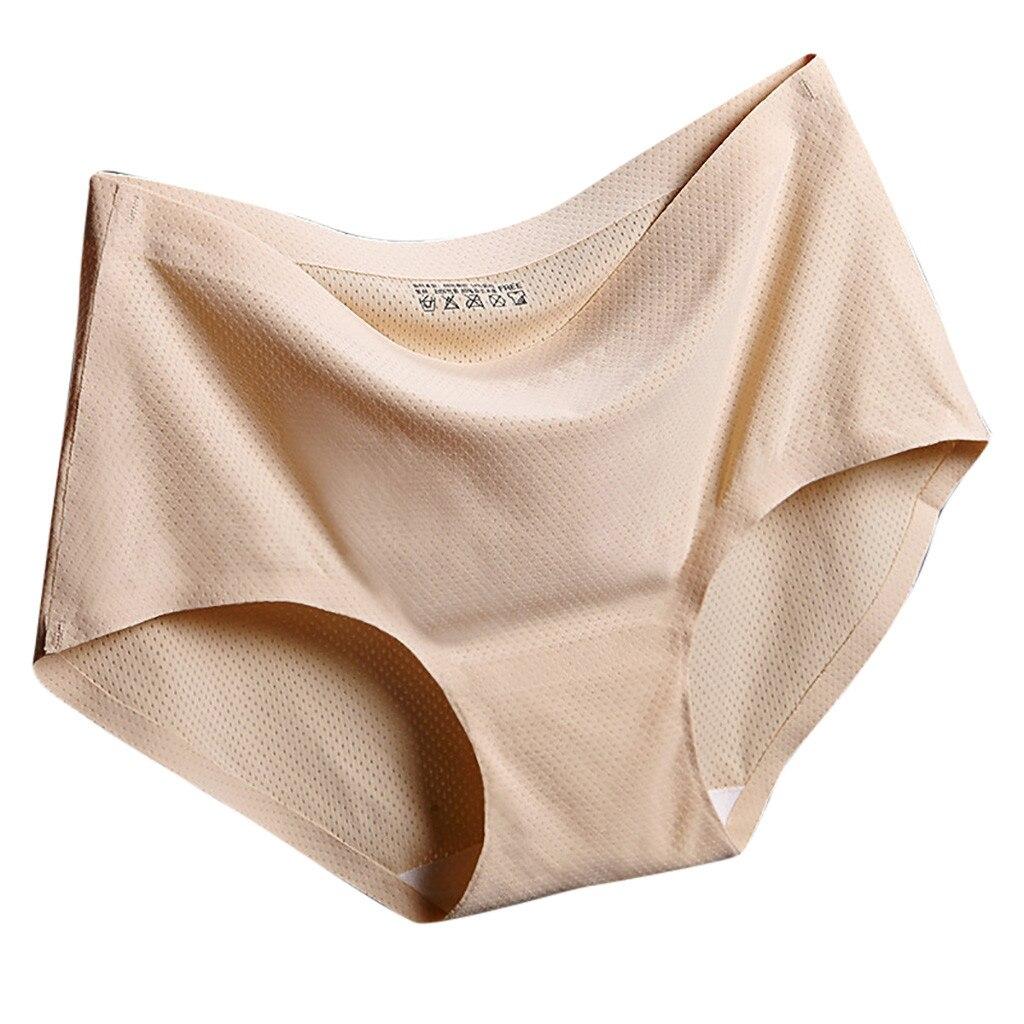1 Pza ropa interior sexy para mujer bragas sólidas de tiro medio transpirable sin costuras bragas бесшовные рсbrbragas mujer majtki culotte femme # L