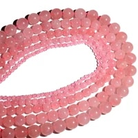 natural jewelry making round loose bead pink crystal beads pick size 4 6 8mm
