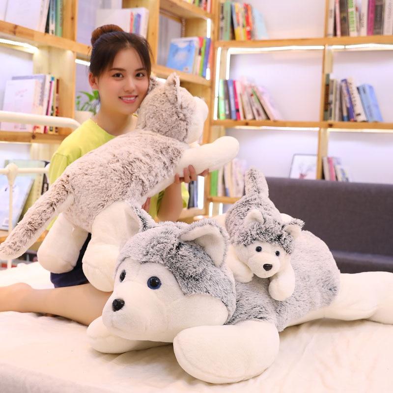 Cute Dog Plush Toy Soft Stuffed Animal Pillow Christmas Gifts for Kids Valentine Present недорого