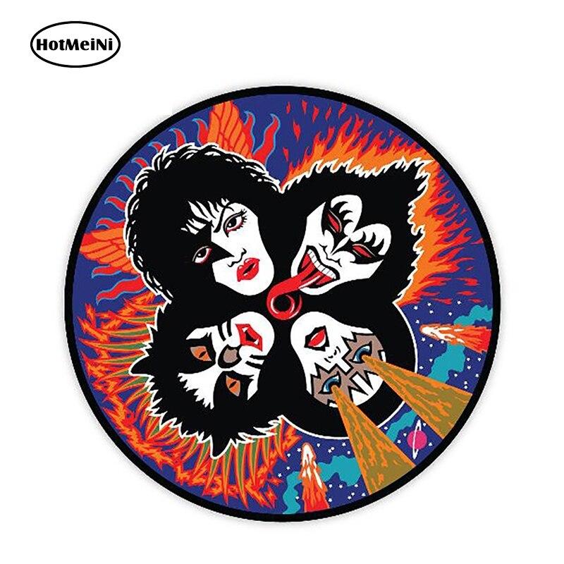HotMeiNi, 12cm X 12cm, pegatina de vinilo de dibujos animados KISS, pegatina de estilo divertido para coche, troquelado, impermeable, decoración de Motor, gráficos, pegatina de coche