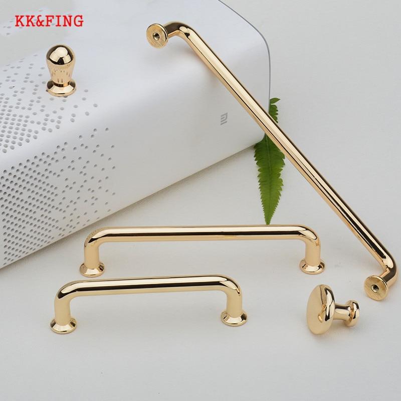 KK&FING European Luxury Gold Zinc Alloy Cabinet Handles and Knobs Kitchen Cupboard Wardrobe Door Pulls Furniture Handle Hardware