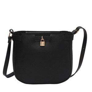 Yishenglong brand fashionable women's bag portable one shoulder slanting leisure bag cover zipper small lock decoration shaping