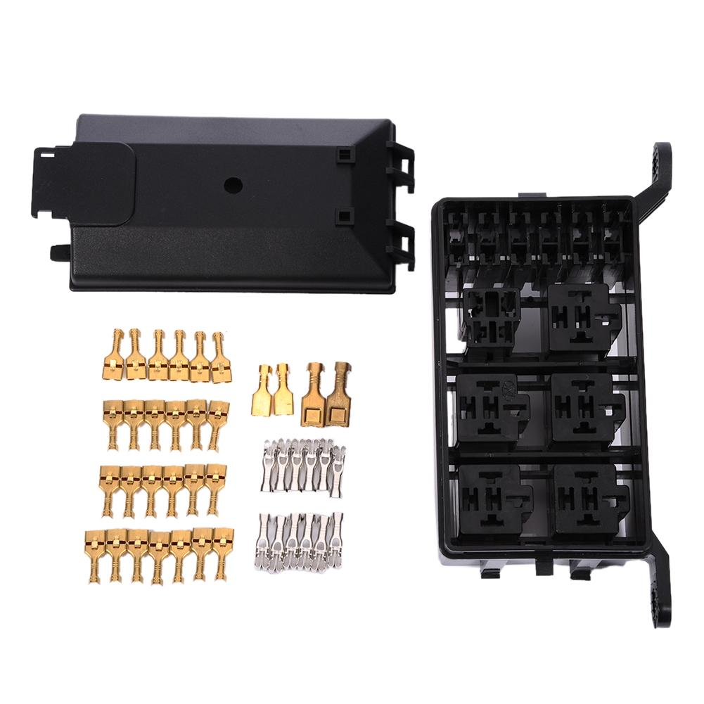 Auto fuse box 6 relay relay holder 5 road The nacelle insurance car insuranceUnit Type: piece Package Weight: 0.600kg 1.32lb.Pac