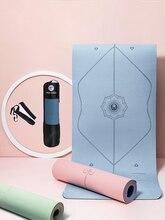 Piso yoga 1830*610*6mm tpe esteira de yoga com linha posição não deslizamento tapete para iniciante tapetes ginástica da aptidão ambiental