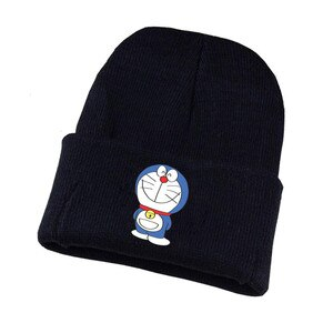 Anime Doraemon Hat Cute Cat Cosplay Hat Teenagers Unisex Winter Knitted Cap Cartoon Print Adult Casual Cotton Cap