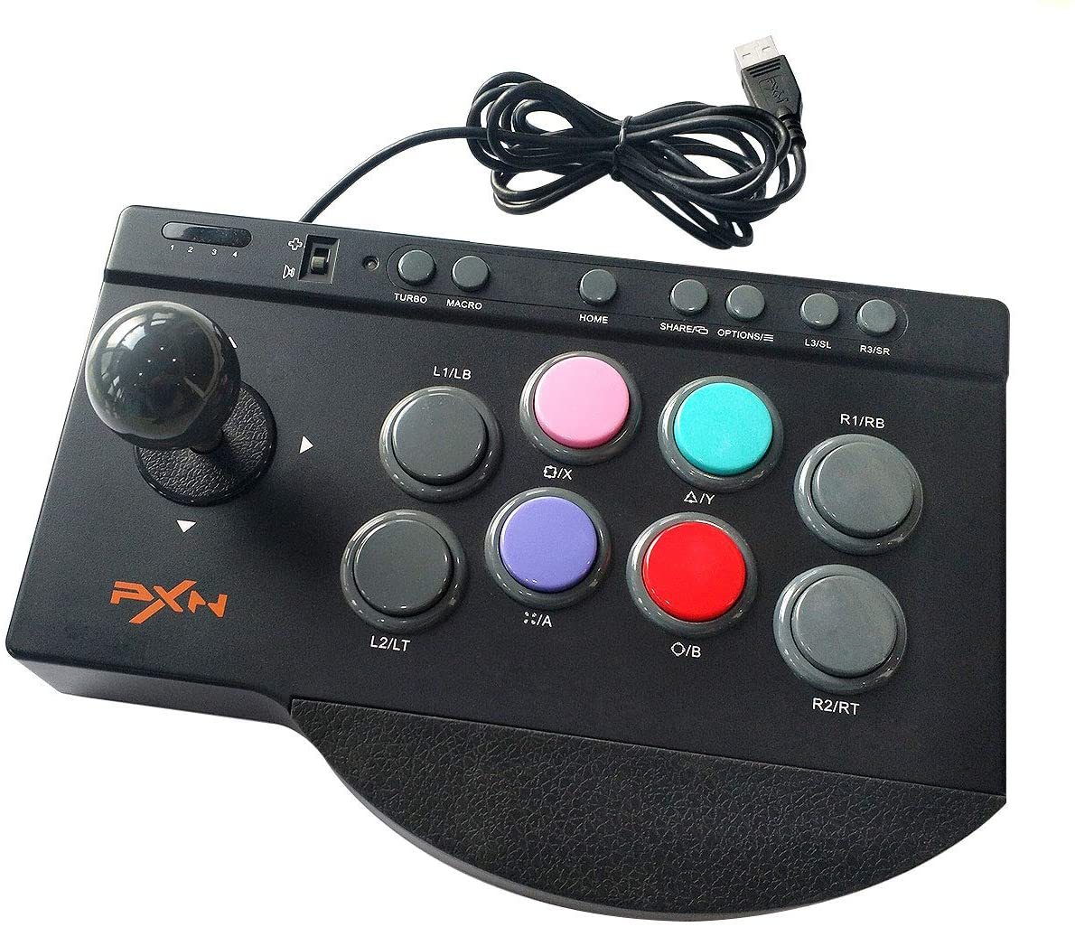 Joystick pc ps4 controlador para ps3/xbox um/nintendo interruptor jogo de luta arcade luta vara pxn 0082 usb street fighter
