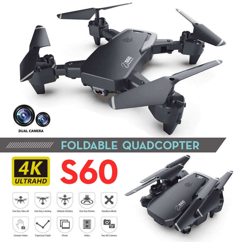 RC Drone 4k HD Wide Angle Camera S60 RC Quadcopter 1080P WiFi FPV Dual Camera Drone Long Flight Time Smart Follow RC Helicopter enlarge