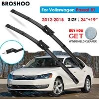 car wiper blade for volkswagen passat b7 2419 2012 2015 windscreen windshield wipers blades window wash fit push button
