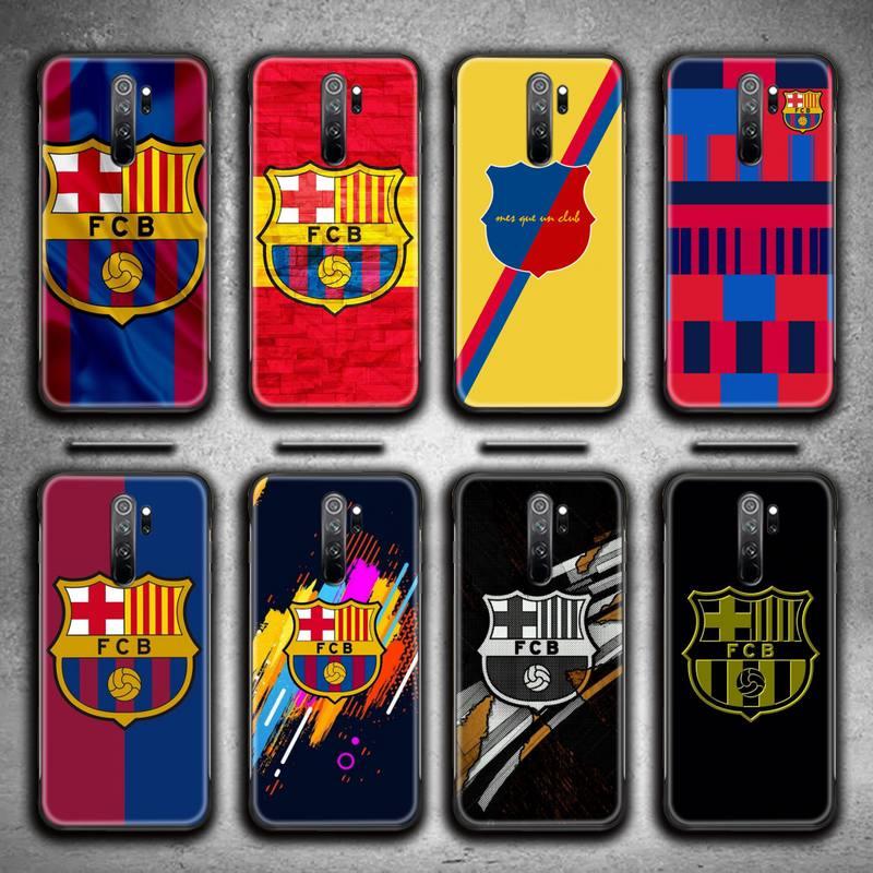 Famosa caixa do telefone do clube barcelonas para redmi 9a 9 8a 7 6 6a nota 9 8 8t pro max k20 k30 pro