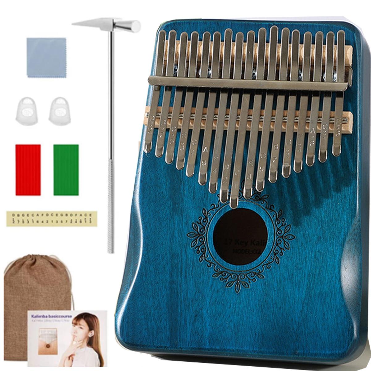 Nice Sound Creative Beginner Thumb Finger Muscial Instrument 17 key Tone Thumb flick Musical Instrument Kalimba