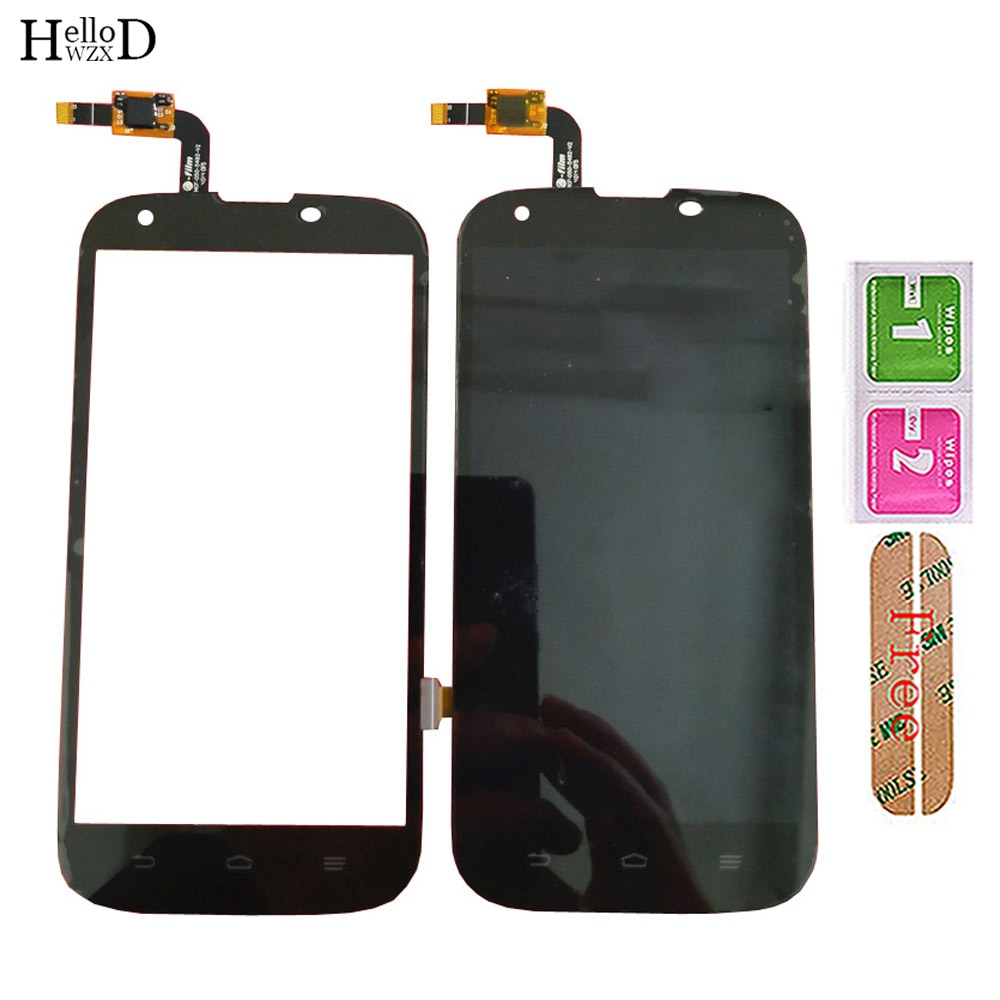 Mobile LCD Display With Touch Screen For ZTE Grand X Z777 LCD Display Front Glass Digitizer Panel Lens Sensor Tools 3M Glue