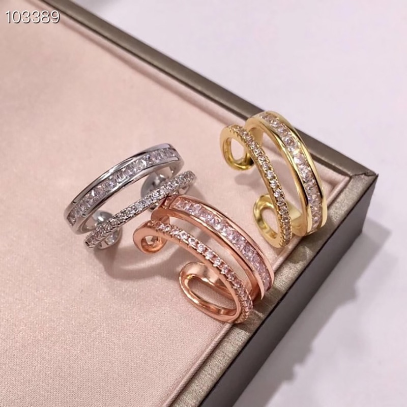 YPAY8 lujo señoras boda partyFashion 925 joyería de plata esterlina AAA calidad Zirconia cúbica fiesta anillo con Pantera forma de leopardo