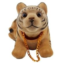 Car Bobbing Head Tiger Shape Nodding Dog Decor
