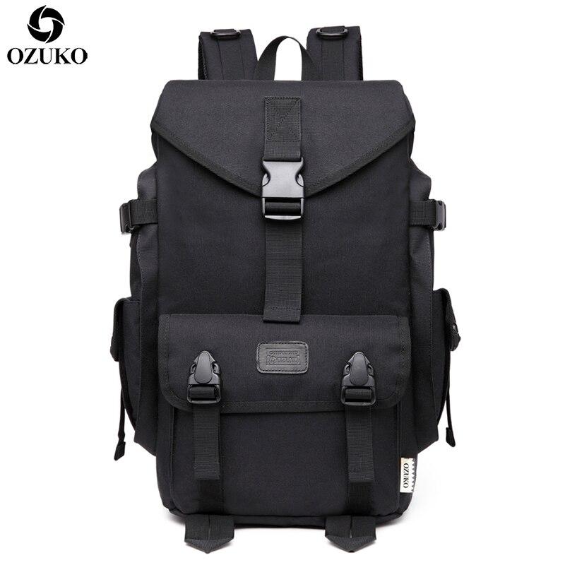 OZUKO-حقيبة ظهر للكمبيوتر المحمول للرجال ، حقيبة ظهر كبيرة السعة للسفر ، كمبيوتر محمول 15.6 بوصة ، حقيبة مدرسية غير رسمية ، حقيبة سفر Bolsa Mochila