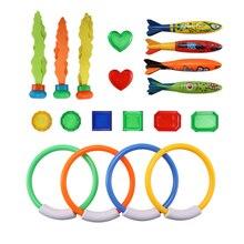 19 pièces jeu de plongée jouets ensemble jouets deau anneaux de plongée torpille trésors plongée sous-marine drôle natation jouet cadeau pour les enfants