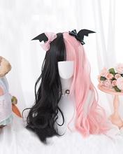 CosplayMix 3 Style noël Halloween fête Lolita Alice jardin Ombre longue bouclés frange Cosplay synthétique perruque + casquette