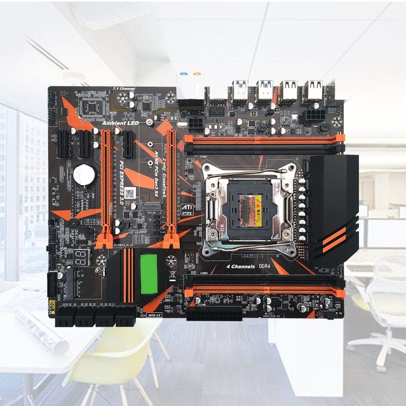 Módulo de placa base X99 LGA2011-V3, profesional, de 4 canales, DDR4, ordenador de escritorio