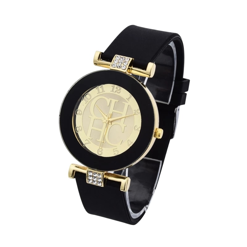 Luxury Brand CH 2021 New Casual Quartz Watch Women Crystal Silicone Watches Wrist Watch Hot sale Gift Reloj Mujer Montre femme