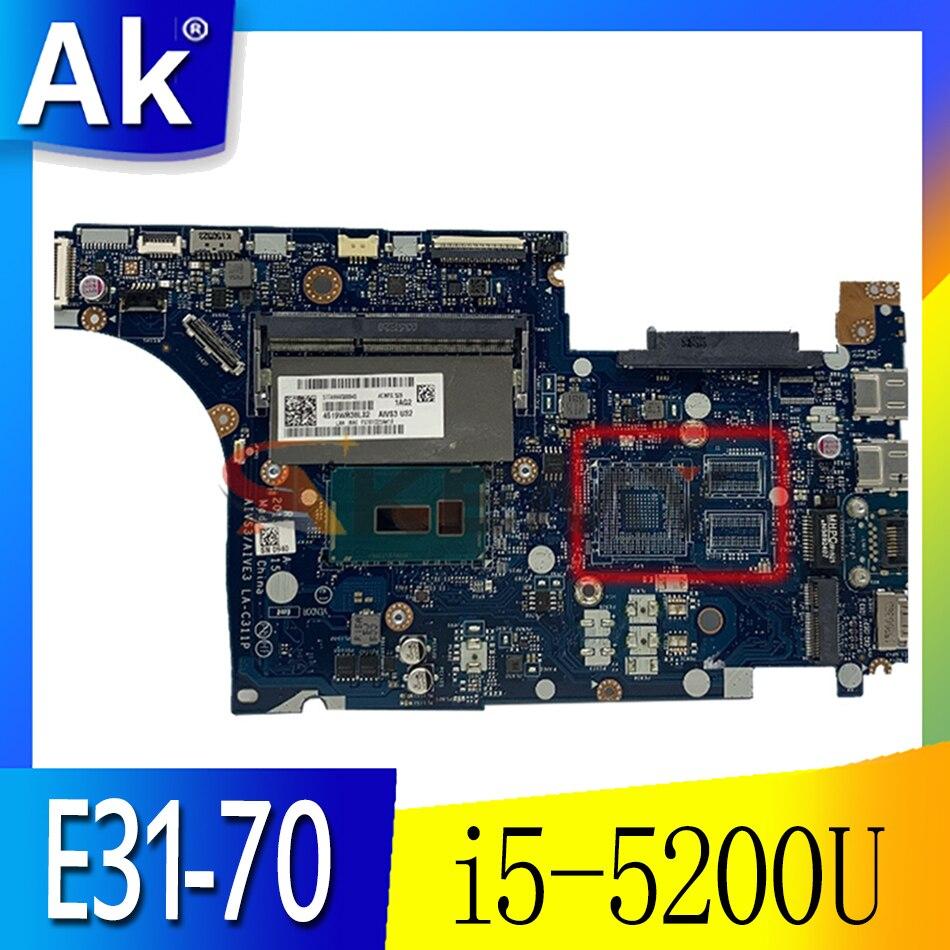 Akemy AIVS3 AIVE3 LA-C311P اللوحة الأم لأجهزة الكمبيوتر المحمول لينوفو E31-70 13.3 بوصة SR23Y i5-5200U اللوحة الرئيسية