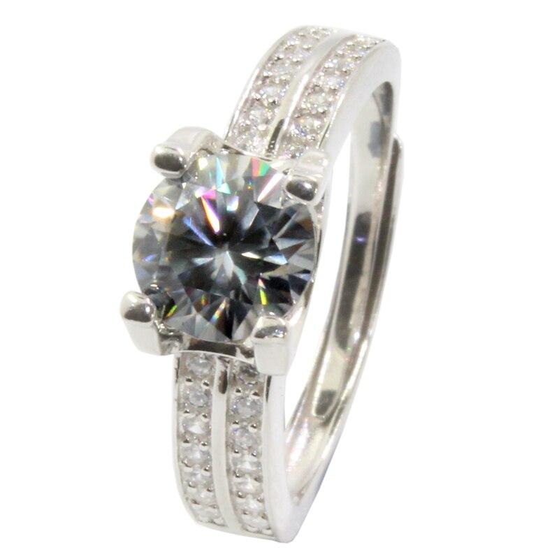 CoLife Schmuck Silber Moissanite Hochzeit Ring für Frau 2ct 3ct D Farbe VVS1 Grade Moissanite Ring 925 Silber Engagement Ring