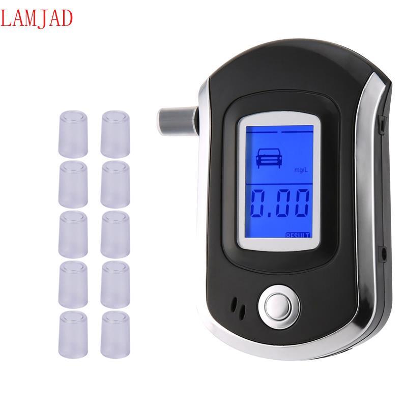 Détecteur d'alcoolémie de Police professionnel à écran LCD, testeur d'alcoolémie numérique, analyseur d'haleine, outil de sécurité pour la conduite automobile