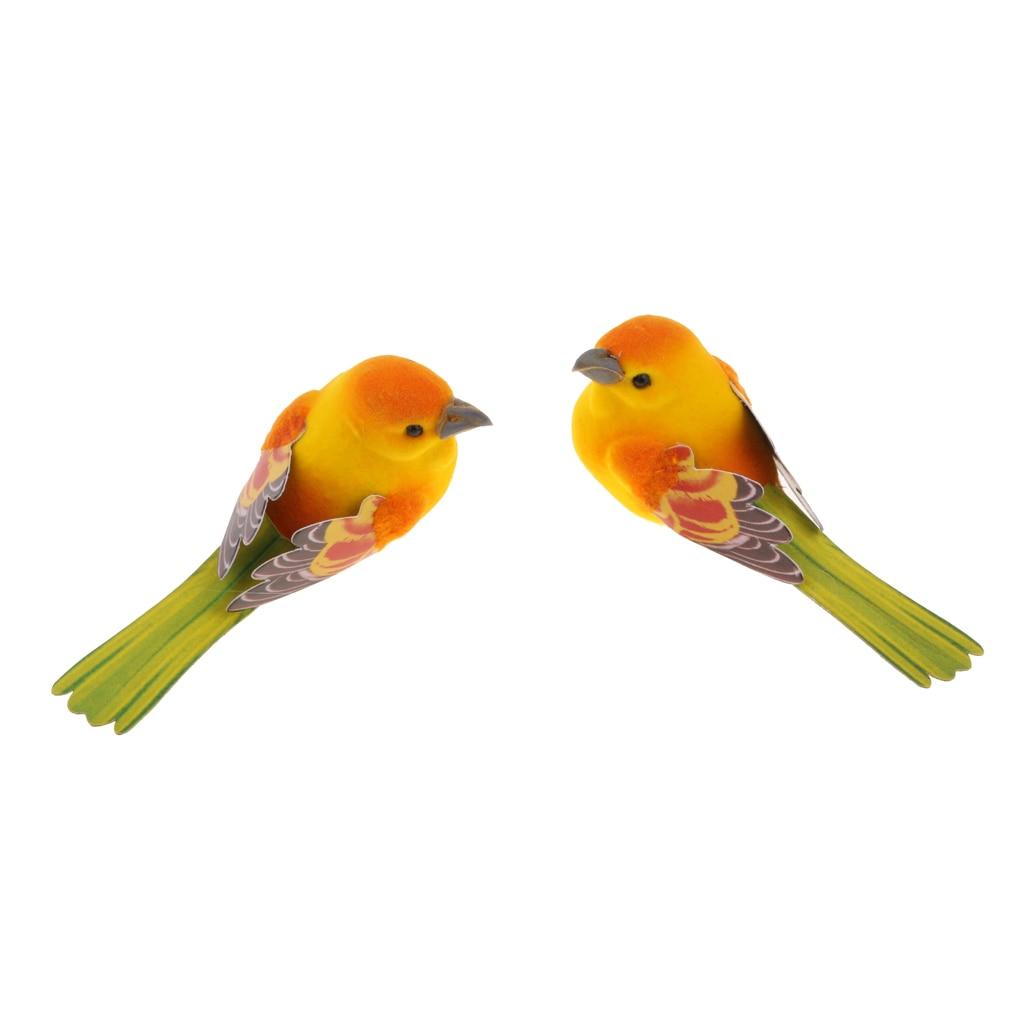 2 stücke Bunte Künstliche Schaum Vögel Mini Handwerk Hause Garten Hochzeit Decor