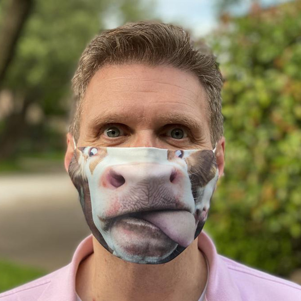 Adulto máscaras de Vacas engraçadas impresso Lavável Reutilizável máscara Personalizada das mulheres dos homens ao ar livre Filtros masque маска mascarilla маски
